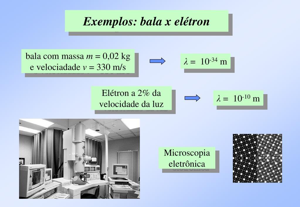 Exemplos: bala x