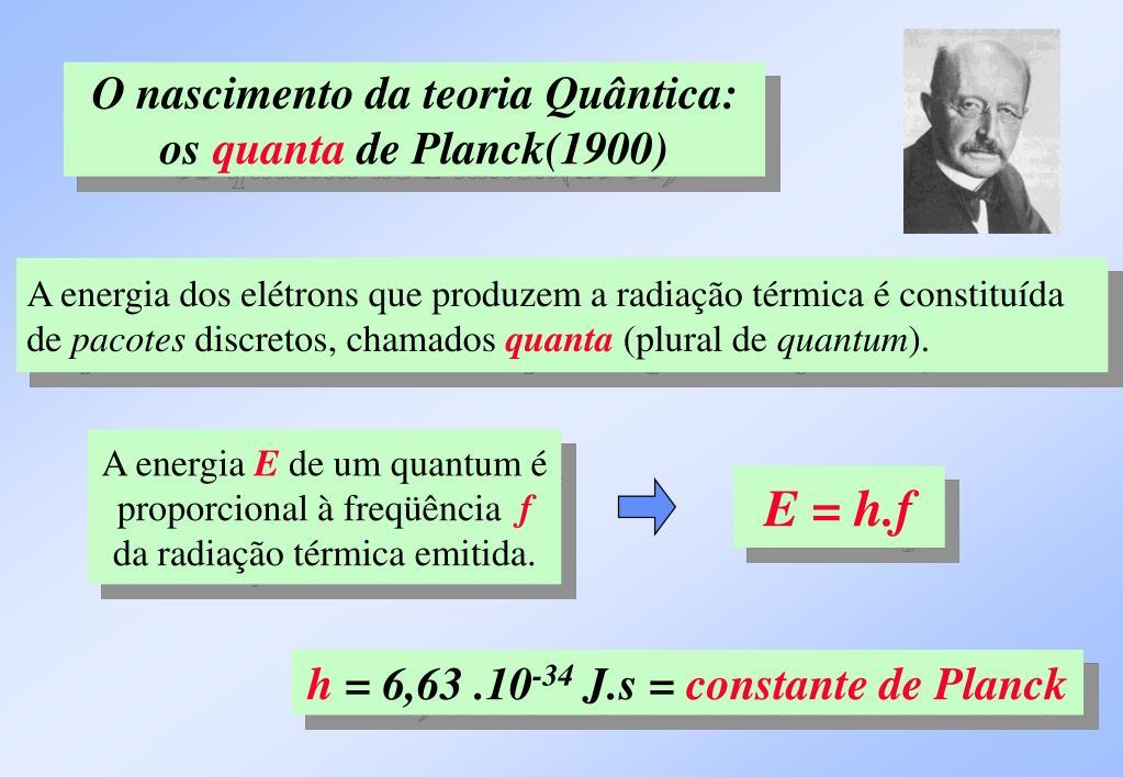O nascimento da teoria Quântica: os
