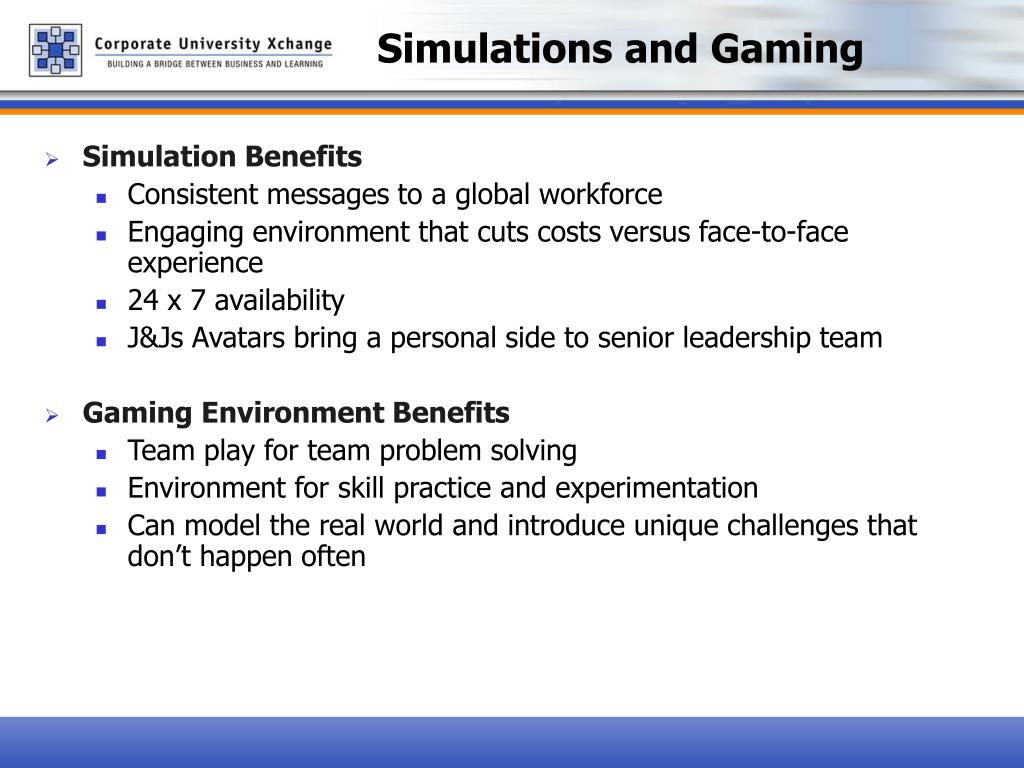 Simulations and Gaming