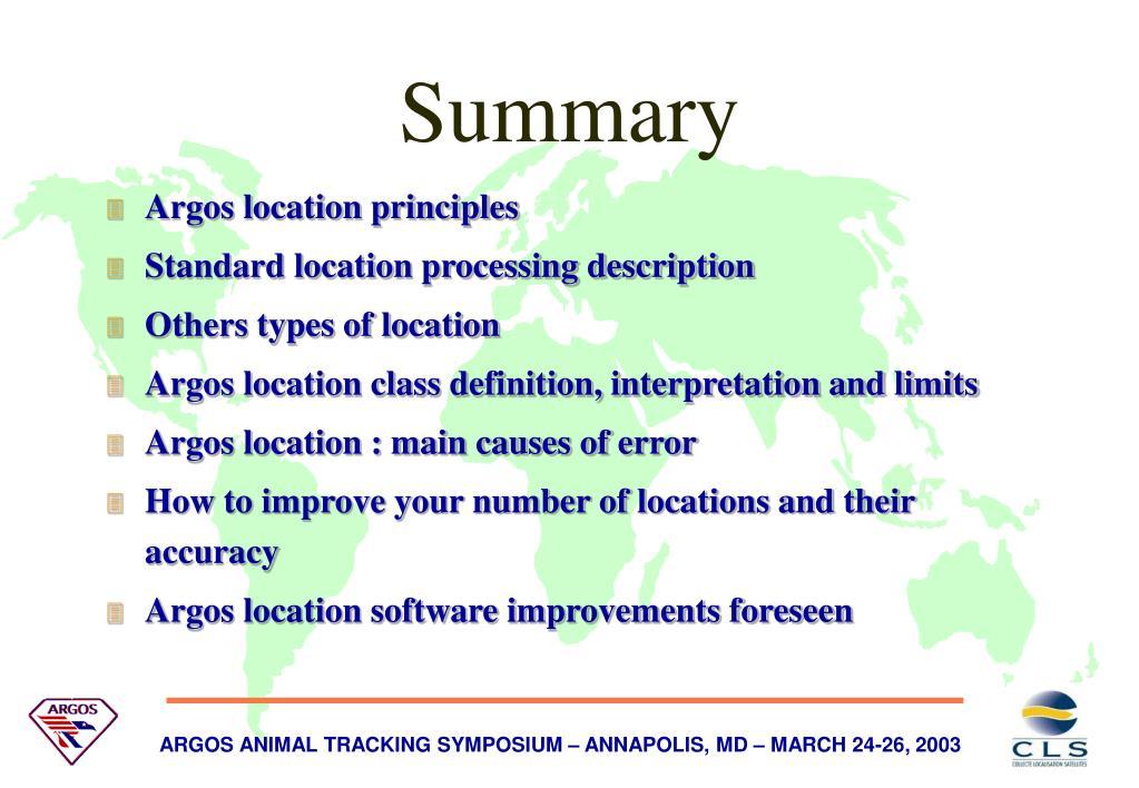 Argos location principles