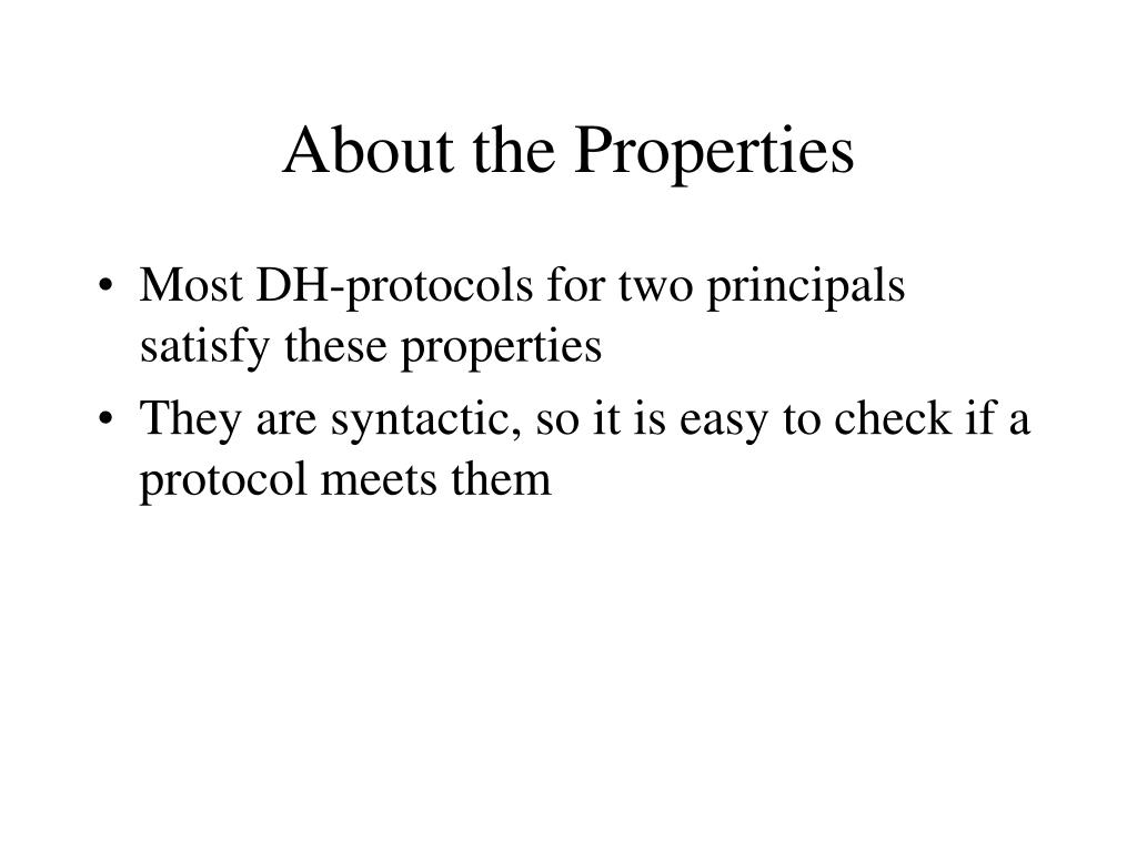 About the Properties