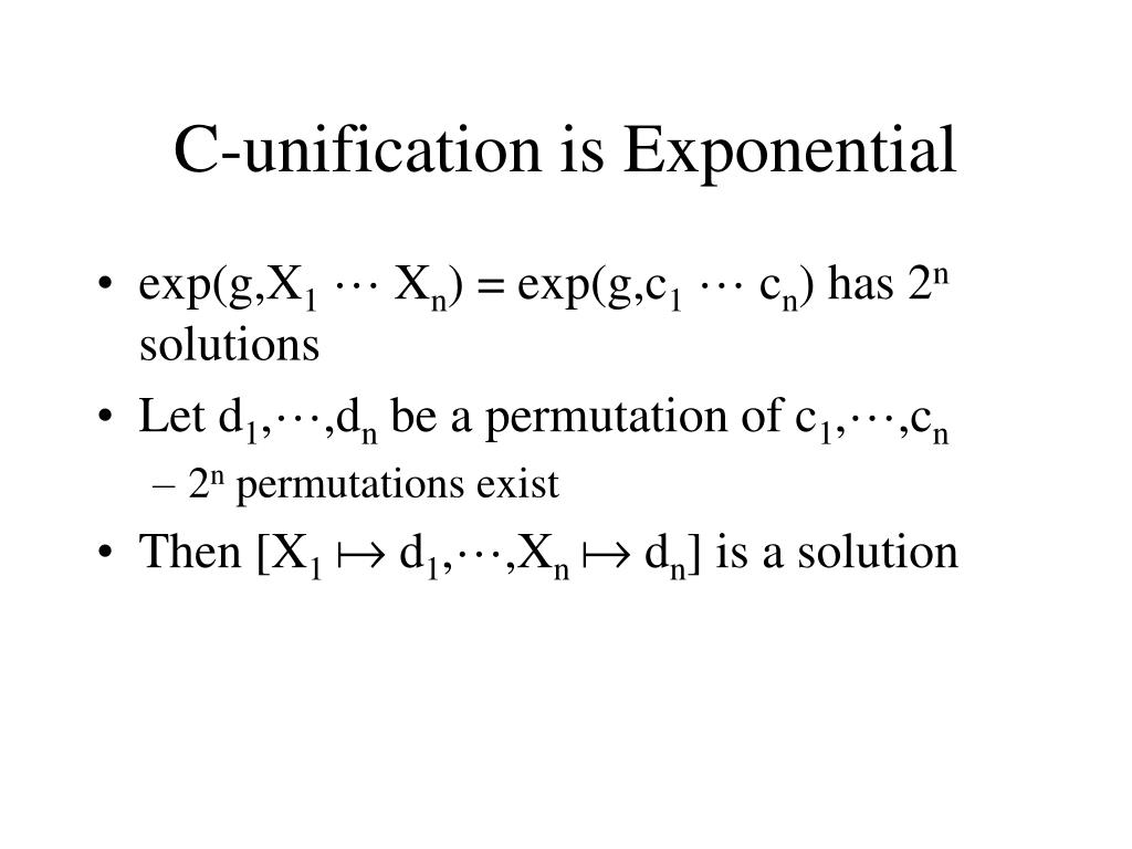 C-unification is Exponential