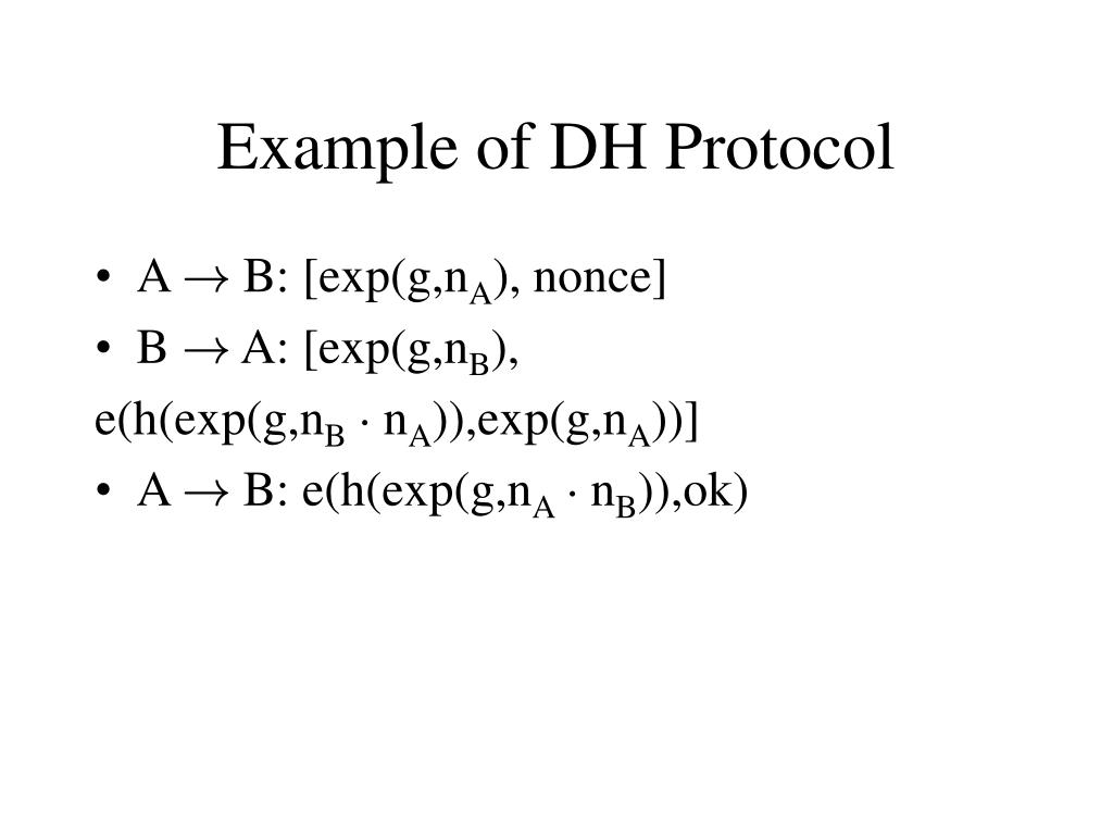 Example of DH Protocol