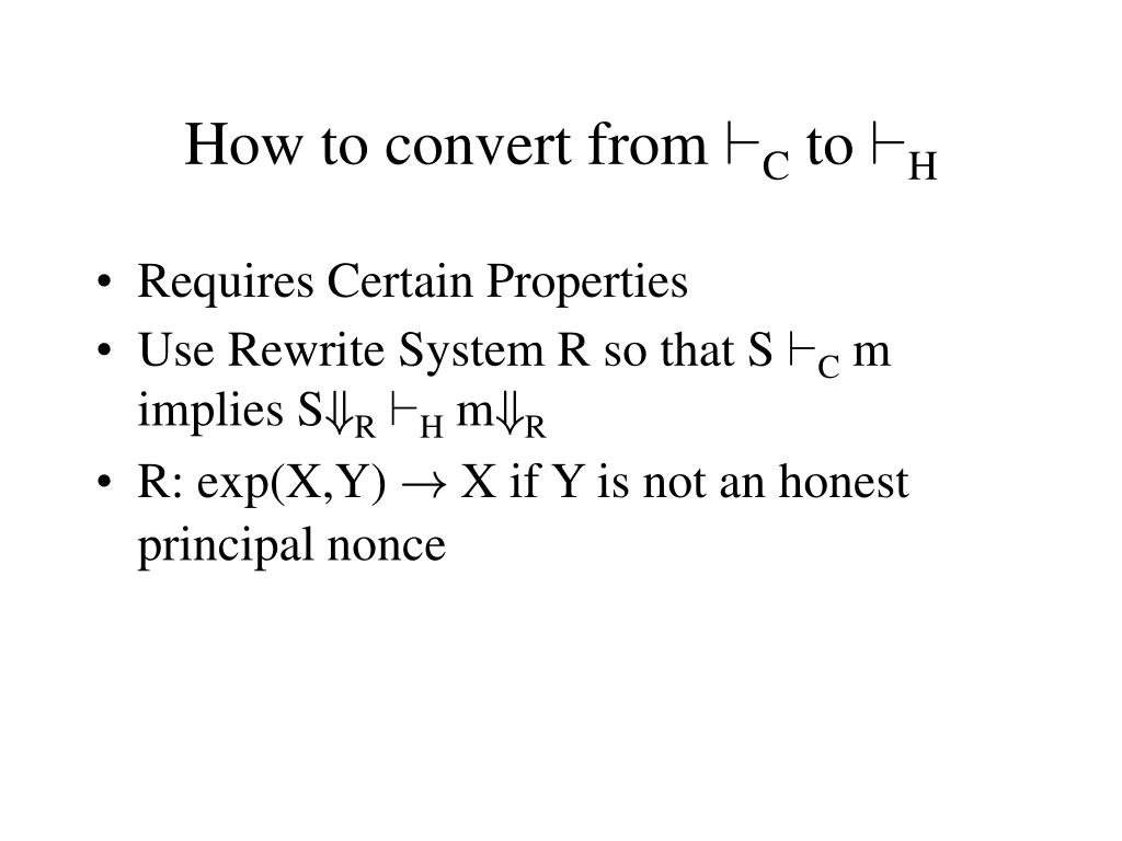 How to convert from