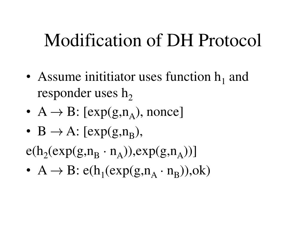Modification of DH Protocol