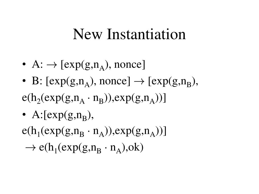 New Instantiation