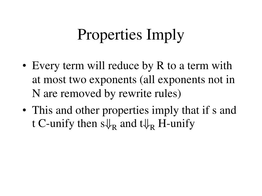 Properties Imply