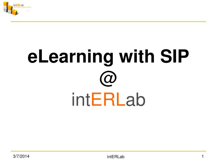 ELearning with SIP