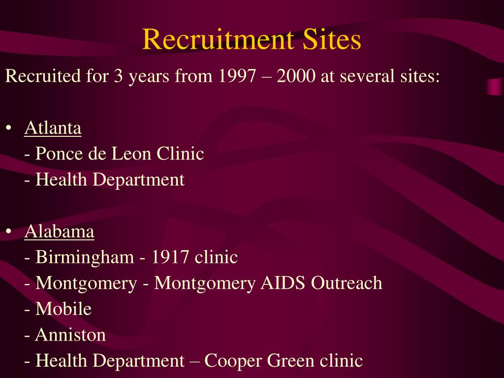 Recruitment Sites