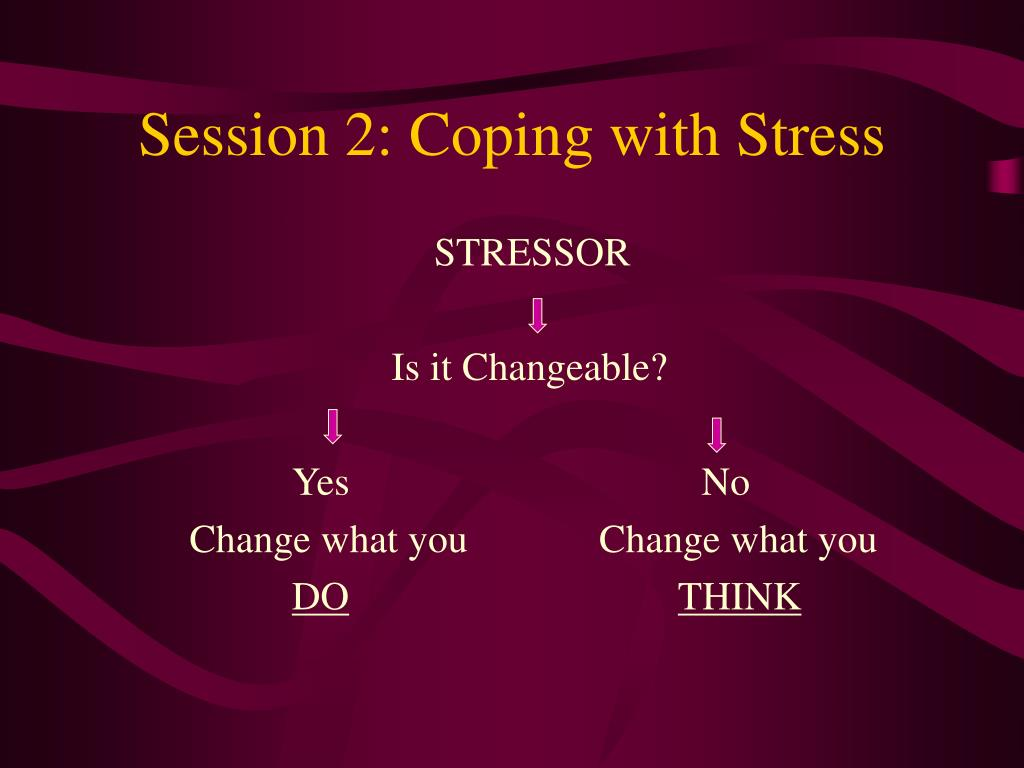 Session 2: Coping with Stress