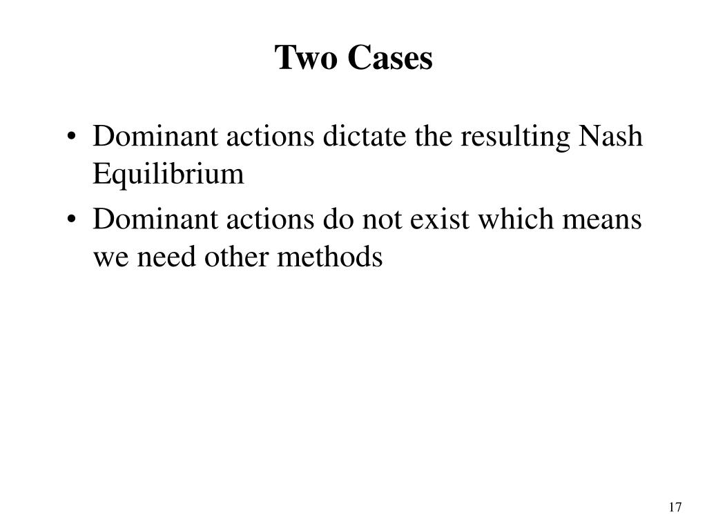 Two Cases