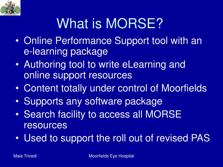 What is MORSE?