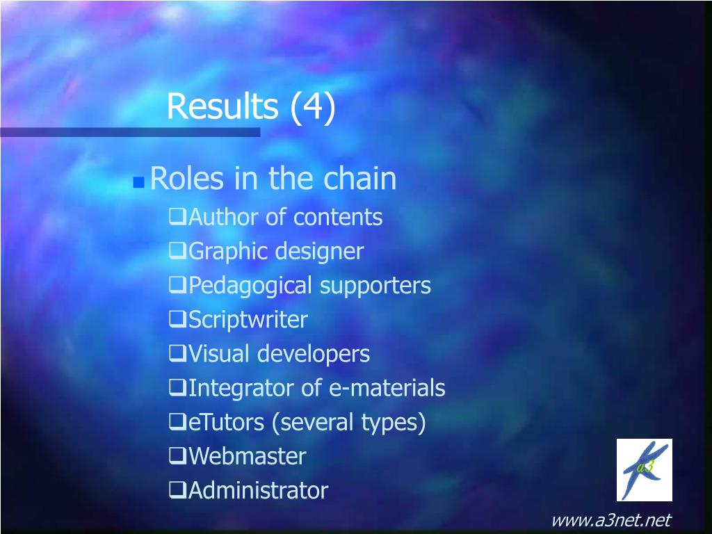 Roles in the chain