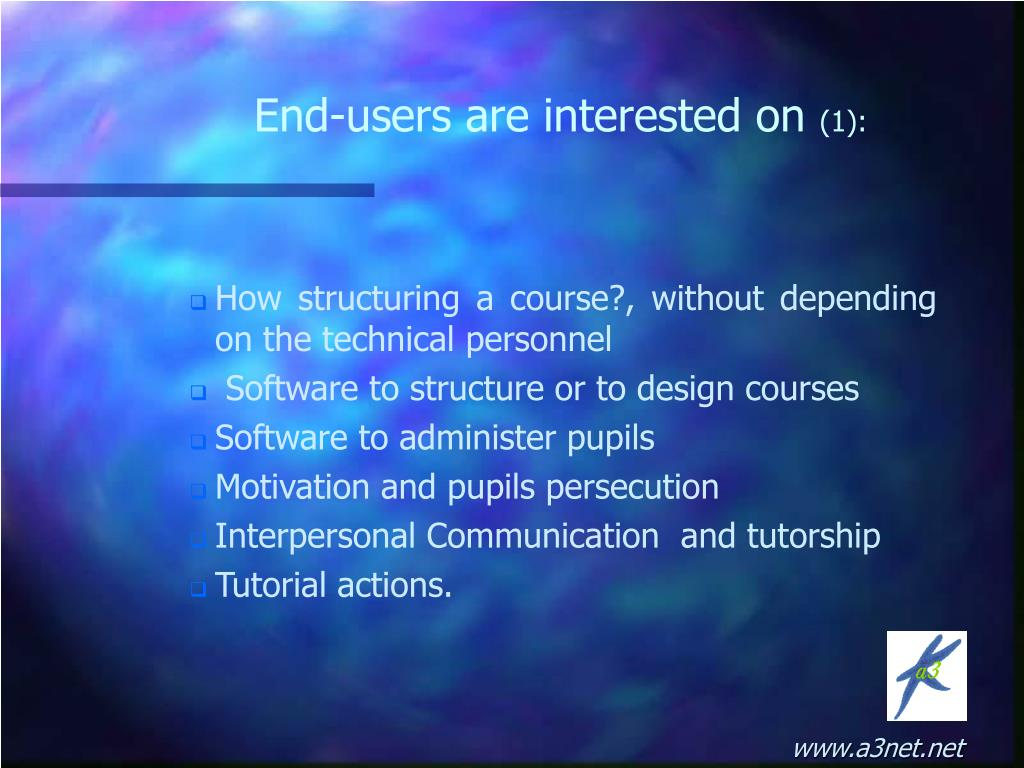 How structuring a course?, without depending on the technical personnel