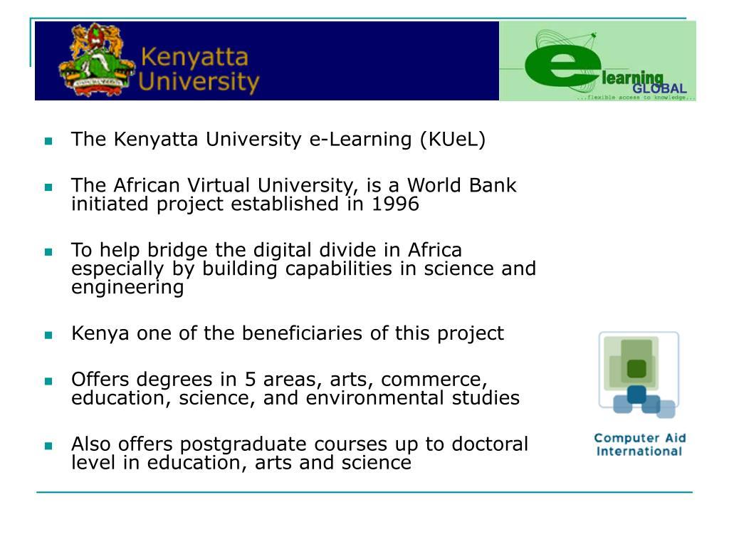 The Kenyatta University e-Learning (KUeL)