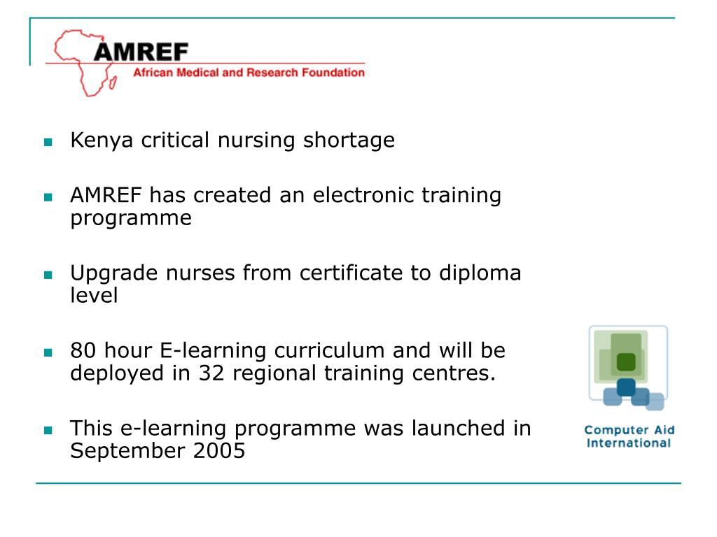 Kenya critical nursing shortage