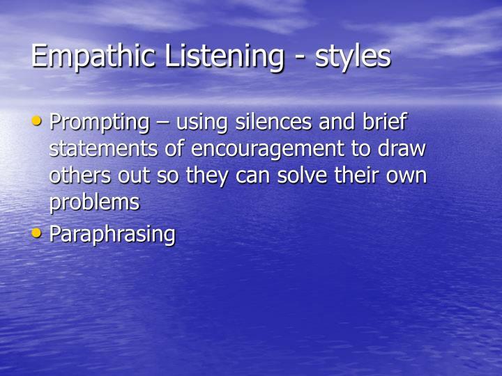 Empathic Listening - styles