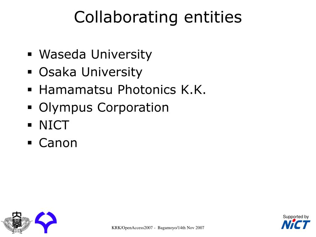 Collaborating entities