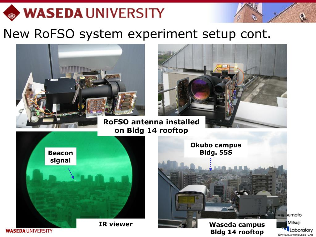 New RoFSO system experiment setup cont.