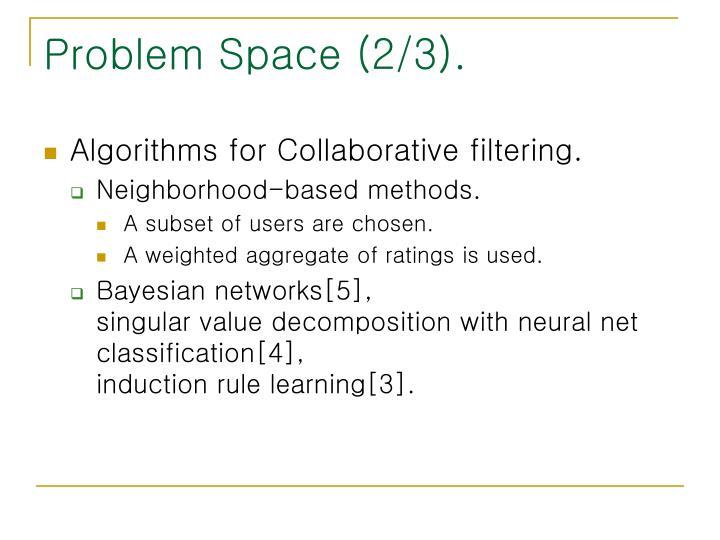 Problem Space (2/3).