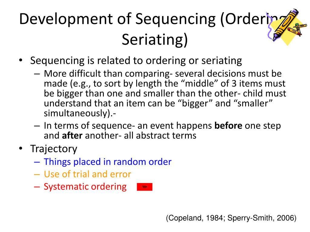 Development of Sequencing (Ordering; Seriating)