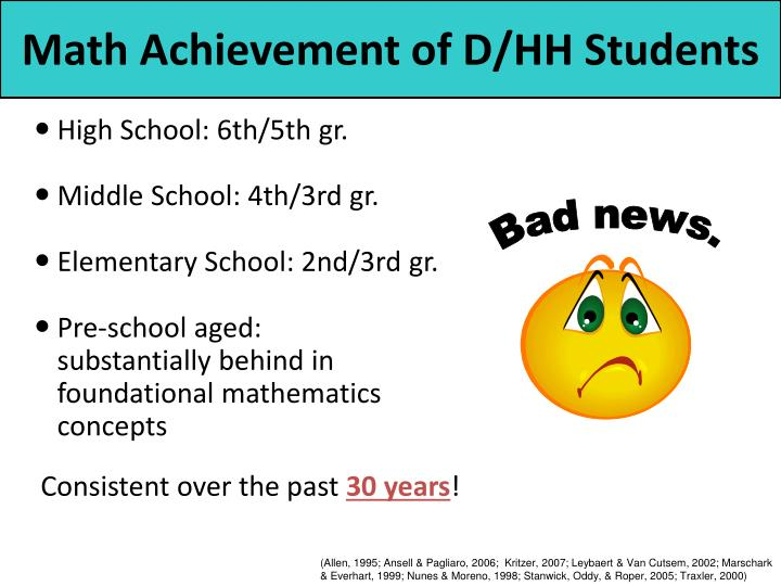 Math achievement of d hh students l.jpg