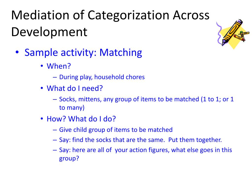 Mediation of Categorization Across Development