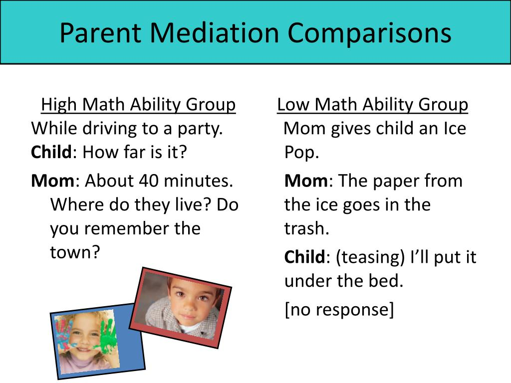 Parent Mediation Comparisons