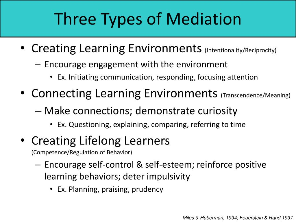 Three Types of Mediation