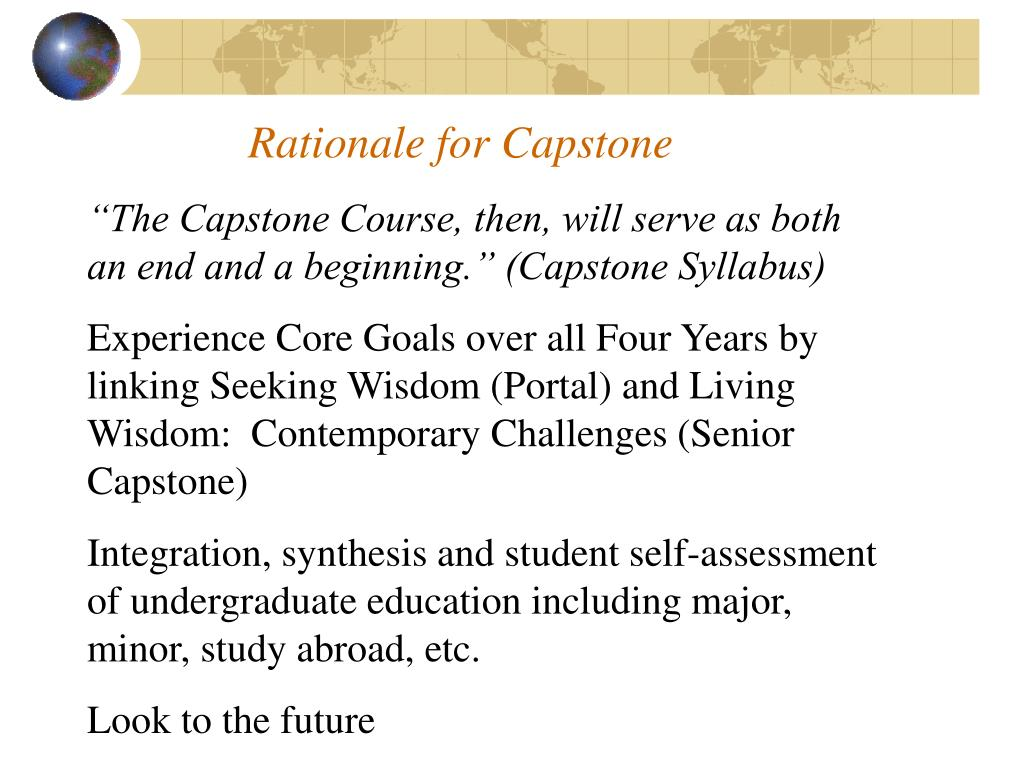 Rationale for Capstone