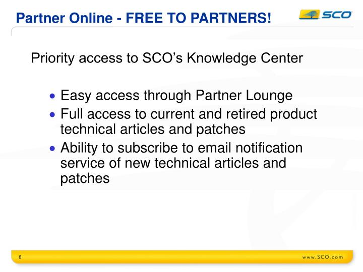 Partner Online - FREE TO PARTNERS!