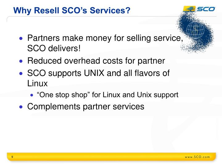 Why Resell SCO's Services?