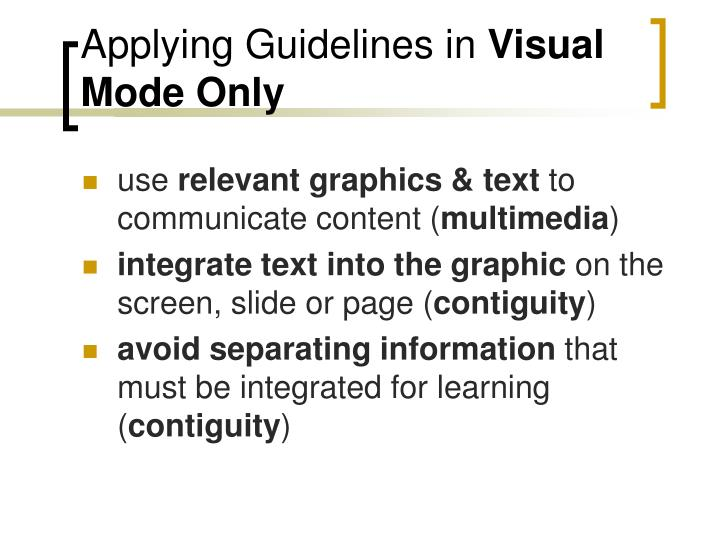 Applying Guidelines in