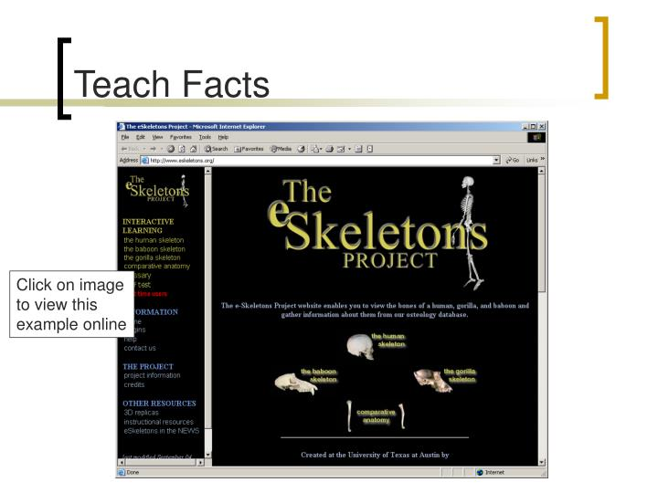 Teach Facts