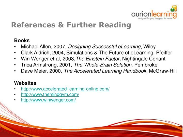 References & Further Reading
