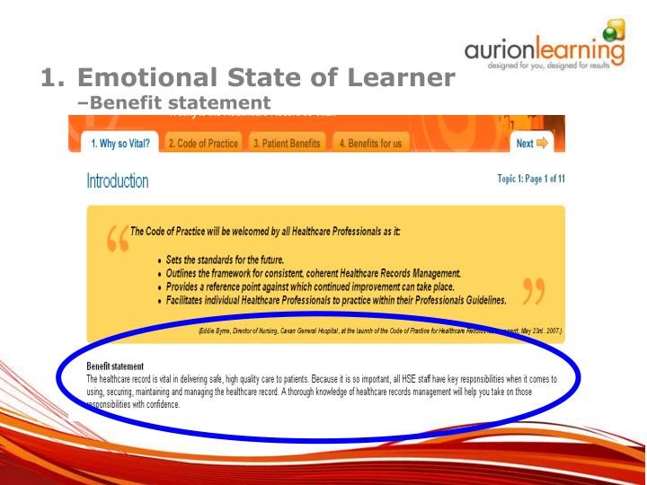 Emotional State of Learner