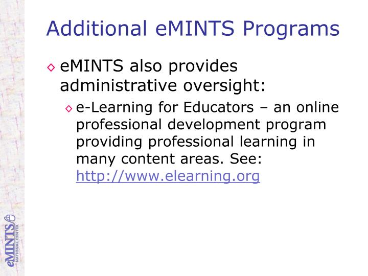 Additional eMINTS Programs