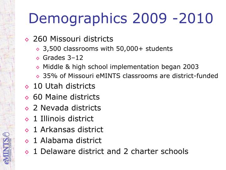 Demographics 2009 -2010