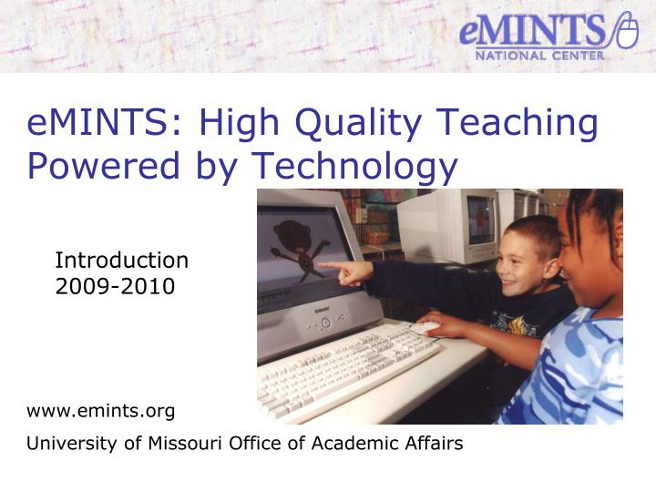 Emints high quality teaching powered by technology