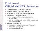 equipment official emints classroom