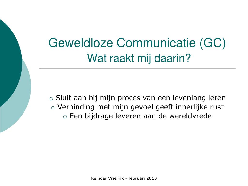 Geweldloze Communicatie (GC)