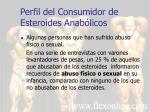 perfil del consumidor de esteroides anab licos