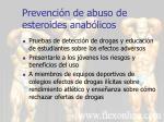 prevenci n de abuso de esteroides anab licos