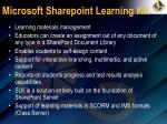 microsoft sharepoint learning kit