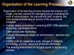 organization of the learning process