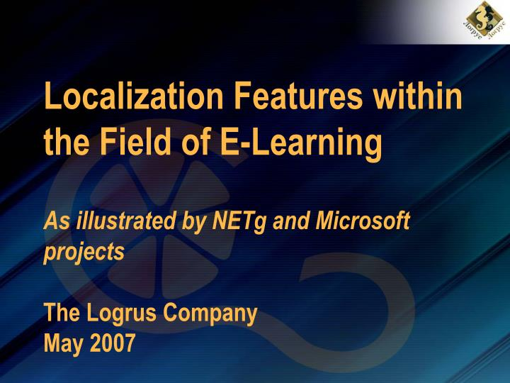 Localization Features within the Field of E-Learning