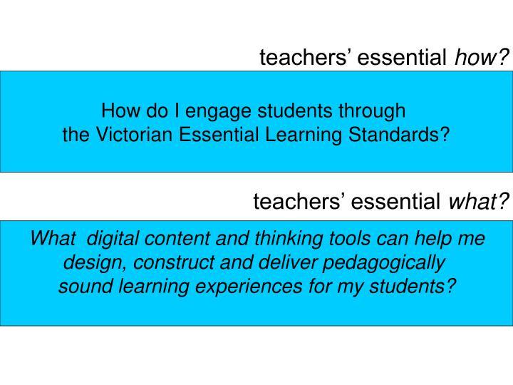 teachers' essential