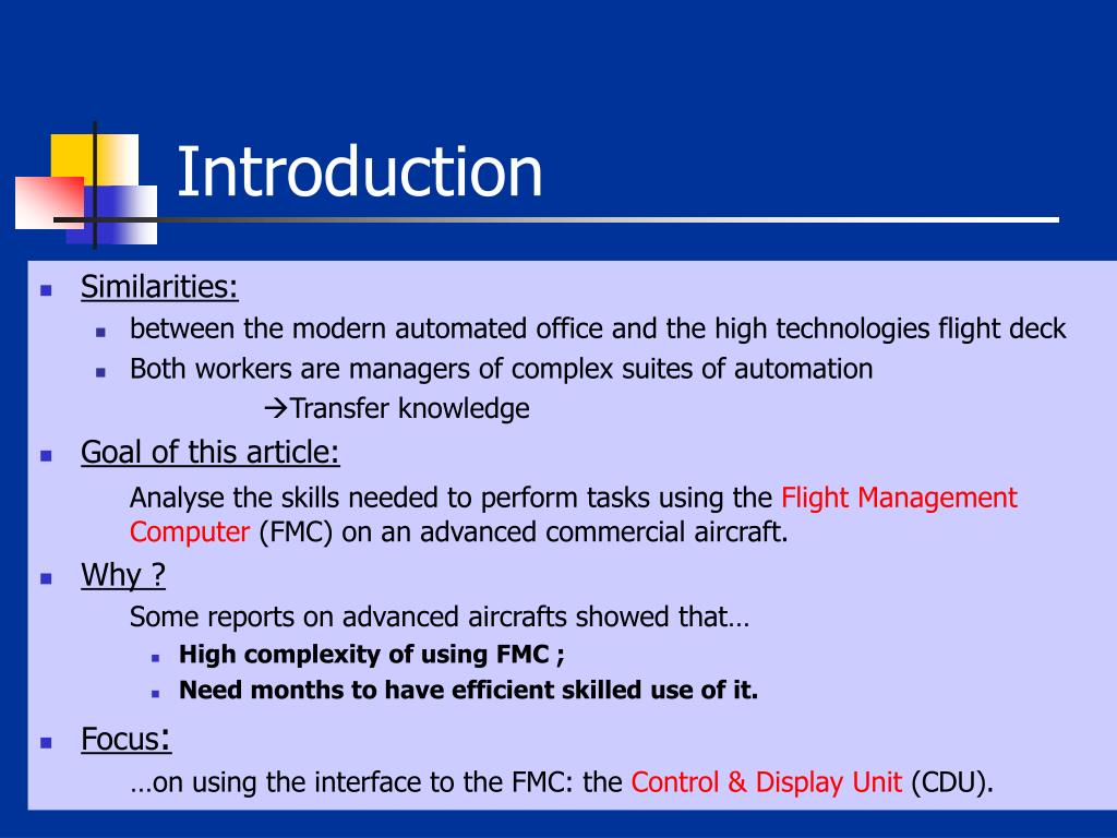 an introduction to the analysis of flight simulator An experimental analysis of situation awareness for cockpit display interface  evaluation based on flight simulation  in order to study the sa in the pilot-aircraft  system, a cockpit flight simulation environment is built up, which  introduction.