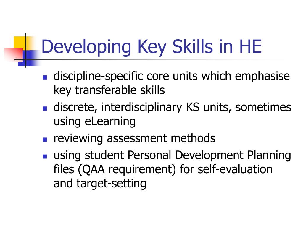 Developing Key Skills in HE