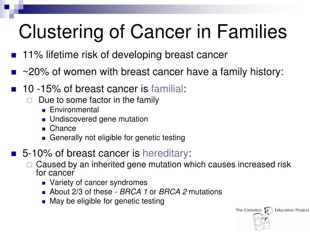 Clustering of Cancer in Families